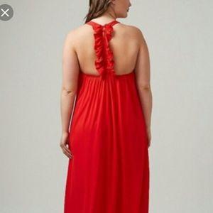 26/28 red maxi dress lane bryant